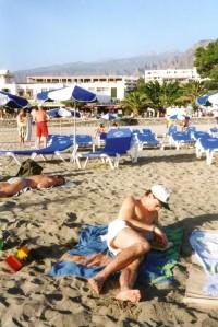 Canaries - plage Las Americas - nov 1996