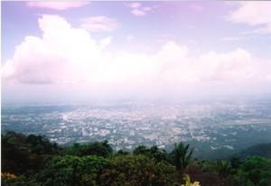 Chiang Mai vue de Doi Suthep 1999