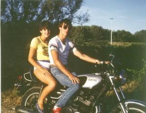 Pourrières - avec Chantal (photo FBlanc) - 1985